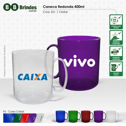 Imagem de Caneca Cristal 400ml