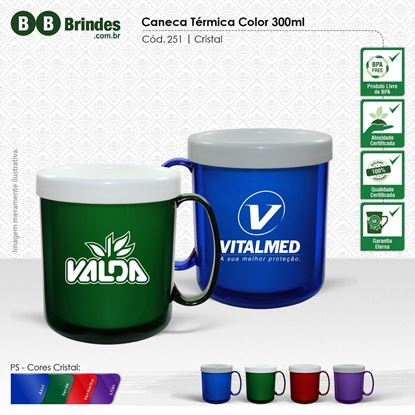 Imagem de Caneca Térmica Color 300mL
