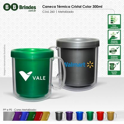 Imagem de Caneca Térmica Cristal Color 300mL