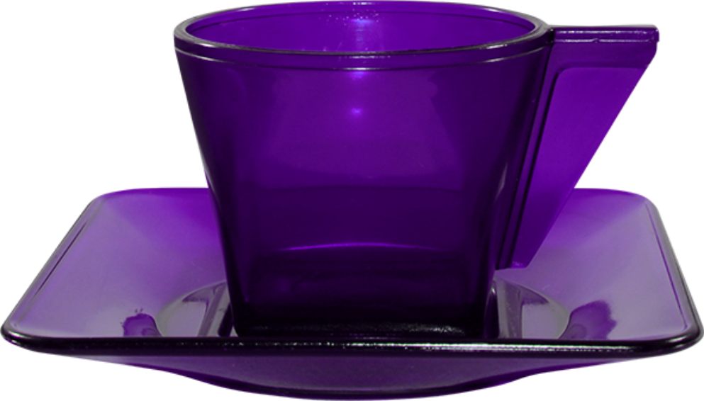 Imagem de Xícara Café com Pires PS Cristal 50ml