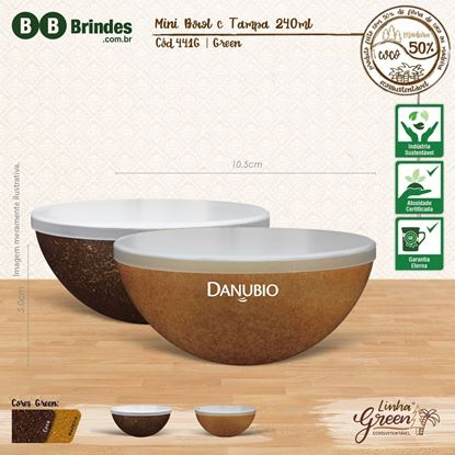Imagem de Mini Bowl GREEN 240mL com tampa