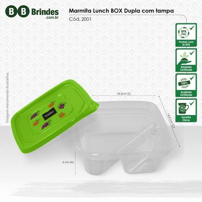 Imagem de Marmita Lunch Box Dupla com Tampa